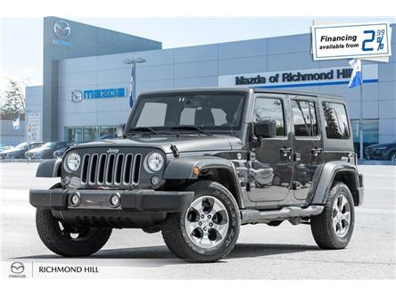 2017 Jeep Wrangler Unlimited Sahara (Stk: P0500) in Richmond Hill - Image 1 of 18