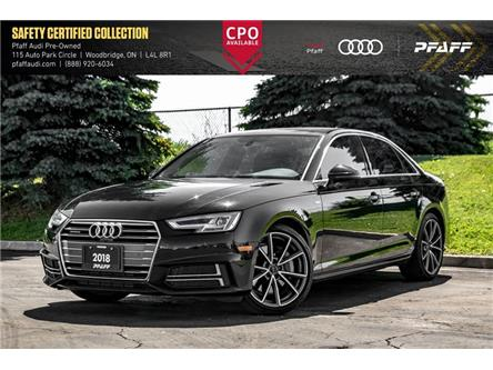 2018 Audi A4 2.0T Progressiv (Stk: C7622) in Vaughan - Image 1 of 21