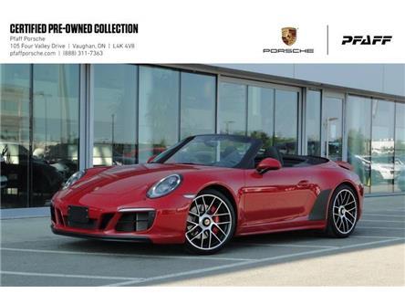 2018 Porsche 911 Carrera 4 GTS Cabriolet PDK (Stk: U8755) in Vaughan - Image 1 of 22