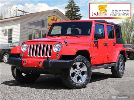 2018 Jeep Wrangler JK Unlimited Sahara (Stk: J2052) in Brandon - Image 1 of 25