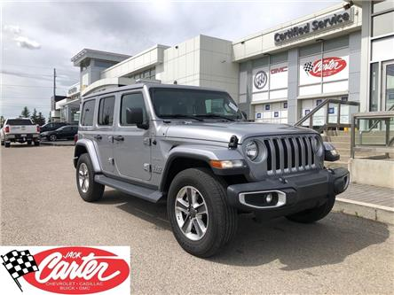 2020 Jeep Wrangler Unlimited Sahara (Stk: 16163L) in Calgary - Image 1 of 29