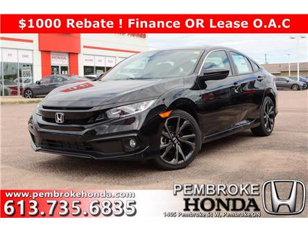 2020 Honda Civic Sport (Stk: 20138) in Pembroke - Image 1 of 27