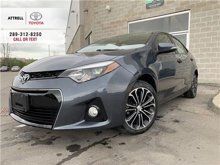 2015 Toyota Corolla S UPGRADE ALLOYS, FOG LAMPS, SUNROOF, SPOILER, HEA (Stk: 9090) in Brampton - Image 1 of 22