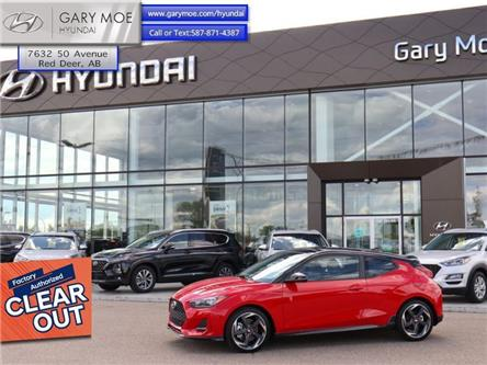 2020 Hyundai Veloster Turbo w/Two-Tone Paint (Stk: 0VL1351) in Red Deer - Image 1 of 14