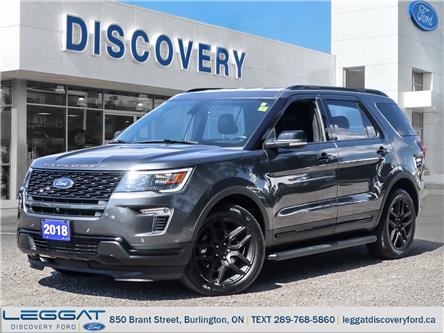2018 Ford Explorer Sport (Stk: 18-22250-L) in Burlington - Image 1 of 28