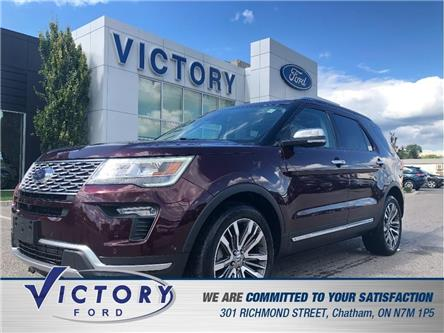2018 Ford Explorer Platinum (Stk: V5433LB) in Chatham - Image 1 of 22