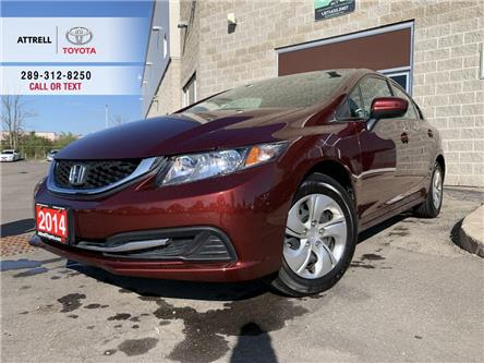 2014 Honda Civic Sedan LX HEATED SEATS, AUX, BLUETOOTH, STEERING WHEEL CO (Stk: 47380A) in Brampton - Image 1 of 21