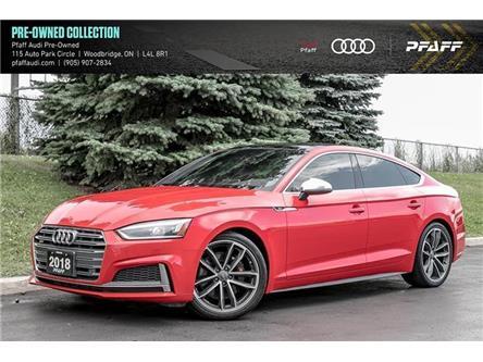 2018 Audi S5 3.0T Progressiv (Stk: T18439A) in Woodbridge - Image 1 of 22