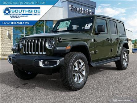 2021 Jeep Wrangler Unlimited Sahara (Stk: WR2102) in Red Deer - Image 1 of 25