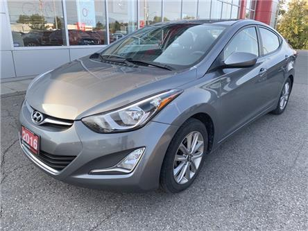 2016 Hyundai Elantra Sport Appearance (Stk: CLW268144A) in Cobourg - Image 1 of 8