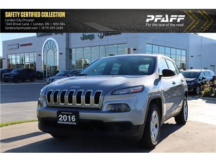 2016 Jeep Cherokee Sport (Stk: LU8796A) in London - Image 1 of 20