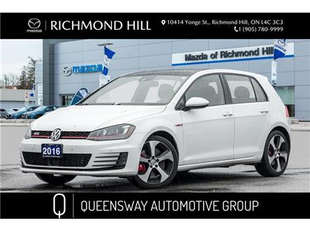 2016 Volkswagen Golf GTI 5-Door Performance (Stk: 21-038A) in Richmond Hill - Image 1 of 20
