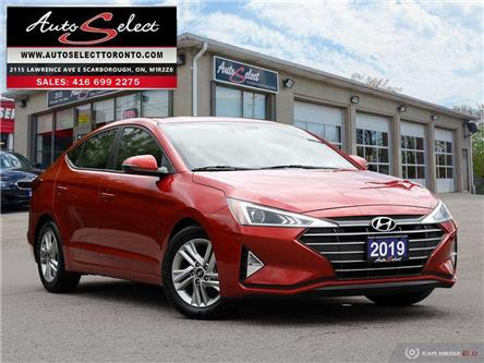 2019 Hyundai Elantra Preferred w/Sun & Safety Package (Stk: 1T3GN1) in Scarborough - Image 1 of 28