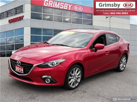 2014 Mazda Mazda3 GT, Leather, Low Kms, clean carfax, Sunroof .. (Stk: n4009a) in Grimsby - Image 1 of 25