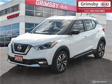 2019 Nissan Kicks SR FWD, 1 OWNER, LOW KMS, LEATHER, LOADED (Stk: N3710B) in Grimsby - Image 1 of 25