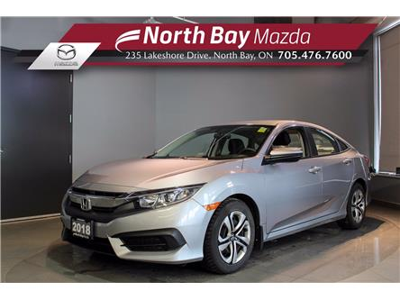 2018 Honda Civic LX (Stk: U6768) in North Bay - Image 1 of 20