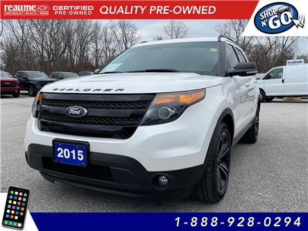 2015 Ford Explorer Sport (Stk: 21-0121A) in LaSalle - Image 1 of 28