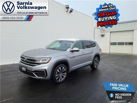 2021 Volkswagen Atlas 3.6 FSI Execline (Stk: V2135) in Sarnia - Image 1 of 14