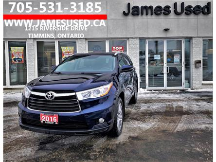 2016 Toyota Highlander XLE (Stk: N2196A) in Timmins - Image 1 of 14