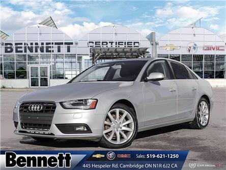 2014 Audi A4 2.0 Komfort (Stk: 200960B) in Cambridge - Image 1 of 27