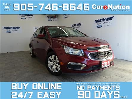 2015 Chevrolet Cruze LT | TOUCHSCREEN | 6 SPEED M/T | ONLY 47 KM! (Stk: P6158) in Brantford - Image 1 of 25