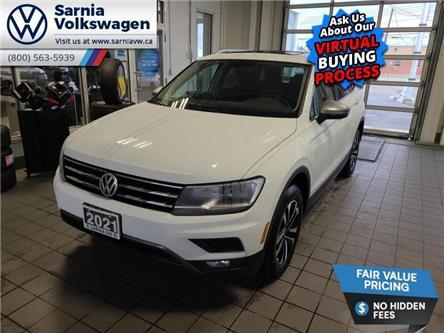 2021 Volkswagen Tiguan Comfortline (Stk: V2153) in Sarnia - Image 1 of 22