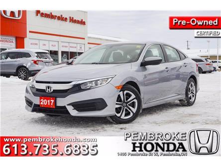 2017 Honda Civic LX (Stk: P7508) in Pembroke - Image 1 of 27