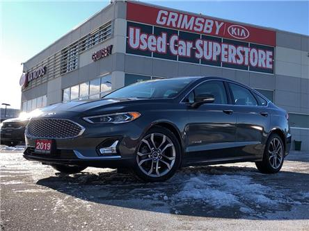 2019 Ford Fusion Hybrid Cooled Seats, Moonroof, Leather, Low Kms!!!! (Stk: U1853) in Grimsby - Image 1 of 23