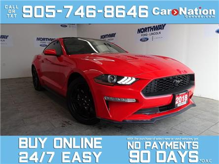2018 Ford Mustang PAINTED BLACK ROOF| BLACK APPEARANCE PKG | 37 KM! (Stk: W4089A) in Brantford - Image 1 of 22