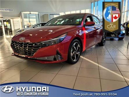 2021 Hyundai Elantra Ultimate w/Tech Pkg & Black Seats (Stk: EL18852) in Edmonton - Image 1 of 7