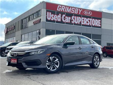2016 Honda Civic Sedan LX, auto, 1 owner, back up camera, sedan (Stk: N4103A) in Grimsby - Image 1 of 18