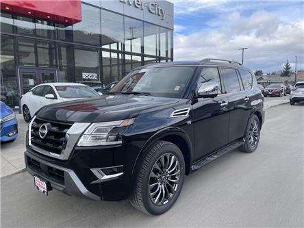 2021 Nissan Armada Platinum (Stk: T21079) in Kamloops - Image 1 of 30