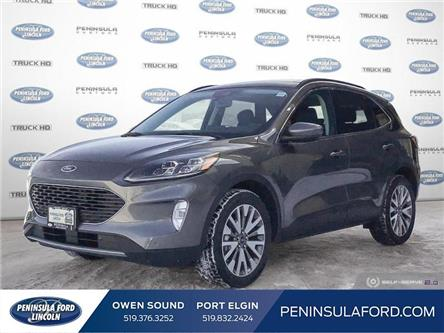 2021 Ford Escape Titanium Hybrid (Stk: 21ES05) in Owen Sound - Image 1 of 24