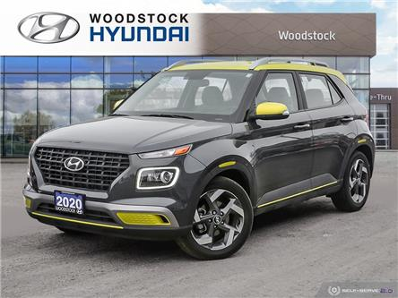 2020 Hyundai Venue Trend w/Urban PKG - Grey-Lime Interior (IVT) (Stk: EA21003A) in Woodstock - Image 1 of 27