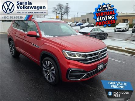 2021 Volkswagen Atlas 3.6 FSI Execline (Stk: V2134) in Sarnia - Image 1 of 14