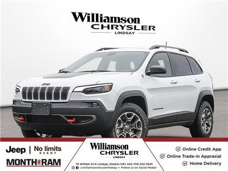 2021 Jeep Cherokee Trailhawk (Stk: 1C4PJM) in Lindsay - Image 1 of 22