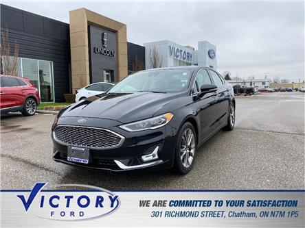2020 Ford Fusion Hybrid Titanium (Stk: V0318R) in Chatham - Image 1 of 17