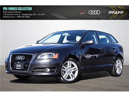 2012 Audi A3 2.0T Progressiv (Stk: T19349A) in Woodbridge - Image 1 of 22