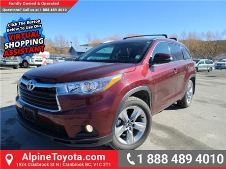 2016 Toyota Highlander Limited (Stk: D015412B) in Cranbrook - Image 1 of 26