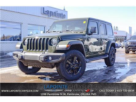 2021 Jeep Wrangler Unlimited Sahara (Stk: 21026) in Pembroke - Image 1 of 27
