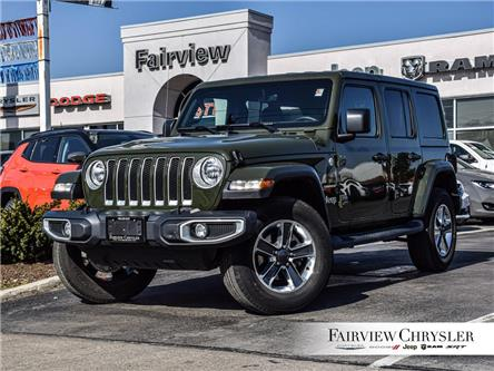 2021 Jeep Wrangler Unlimited Sahara (Stk: U18460DR) in Burlington - Image 1 of 28