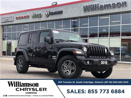 2019 Jeep Wrangler Unlimited Sport (Stk: W6594) in Uxbridge - Image 1 of 21