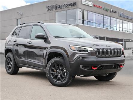 2021 Jeep Cherokee Trailhawk (Stk: 058-21) in Lindsay - Image 1 of 28