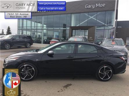 2021 Hyundai Elantra N-Line DCT (Stk: 1EL9836) in Red Deer - Image 1 of 15