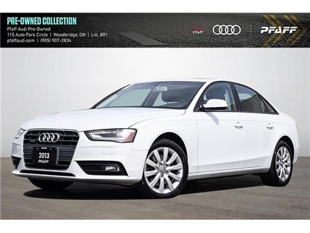 2013 Audi A4 2.0T (Stk: C8150A) in Woodbridge - Image 1 of 21