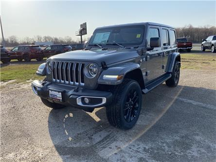 2021 Jeep Wrangler Unlimited 4xe Sahara (Stk: 21-162) in Ingersoll - Image 1 of 20
