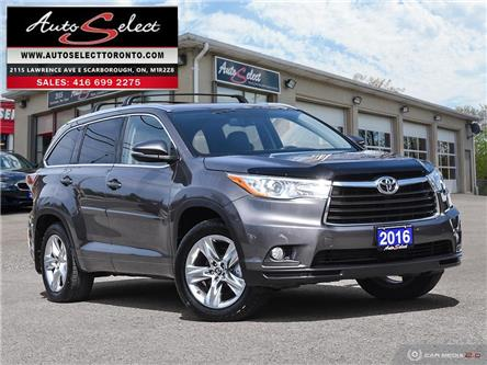 2016 Toyota Highlander Limited (Stk: 1THLNR9) in Scarborough - Image 1 of 27