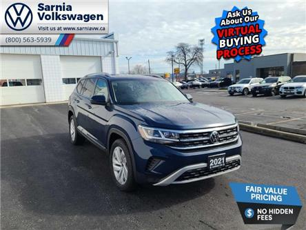 2021 Volkswagen Atlas 3.6 FSI Highline (Stk: V21101) in Sarnia - Image 1 of 23