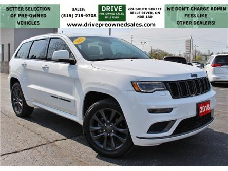 2018 Jeep Grand Cherokee Overland (Stk: ) in Belle River - Image 1 of 27