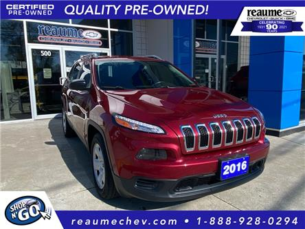 2016 Jeep Cherokee Sport (Stk: 21-0147B) in LaSalle - Image 1 of 24